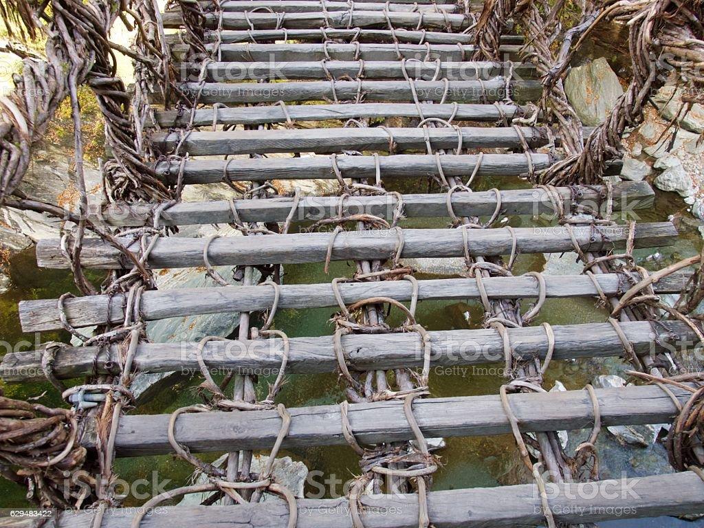 Kazurabashi bridge/Iya,Tokushima,Japan stock photo