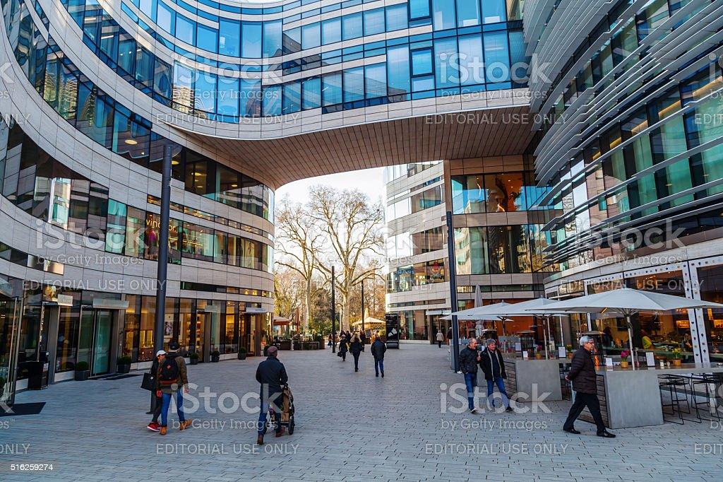 Kö-Bogen in Düsseldorf, Germany stock photo