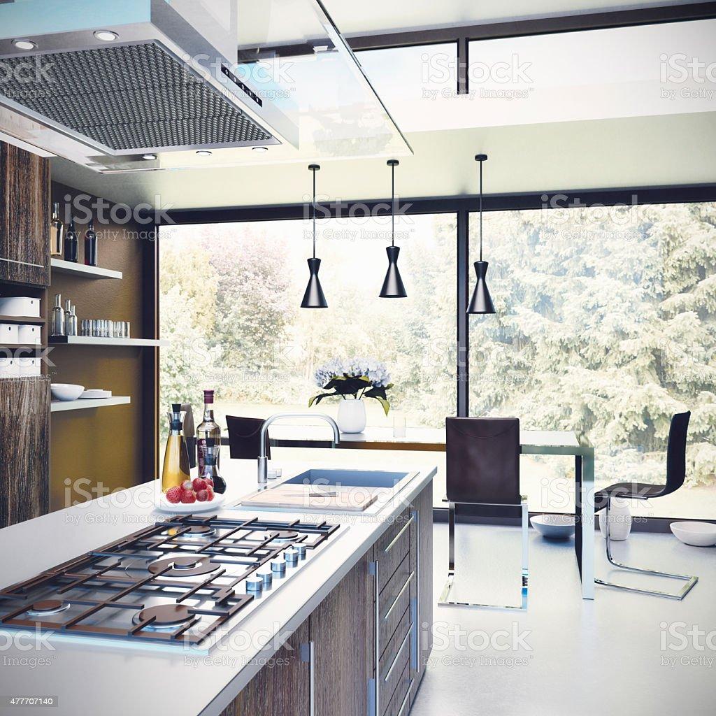 Küche - Kitchen stock photo