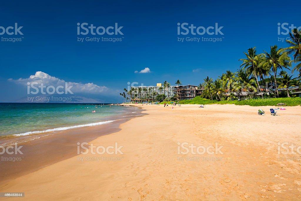 Keawakapu beach, south shore of Maui, Hawaii stock photo