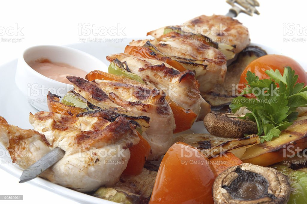 kebab closeup royalty-free stock photo