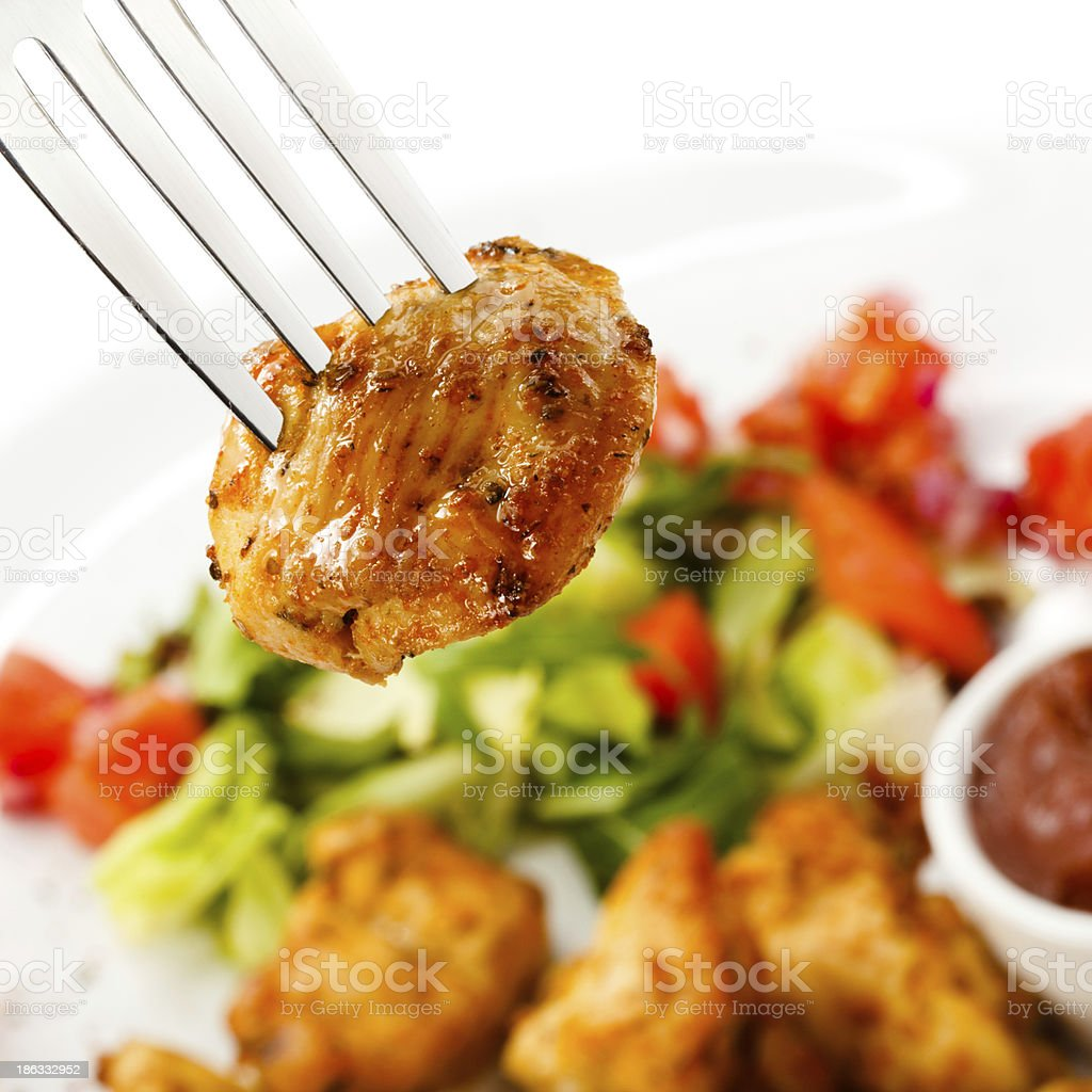 Kebab - grilled meat and vegetables royalty-free stock photo