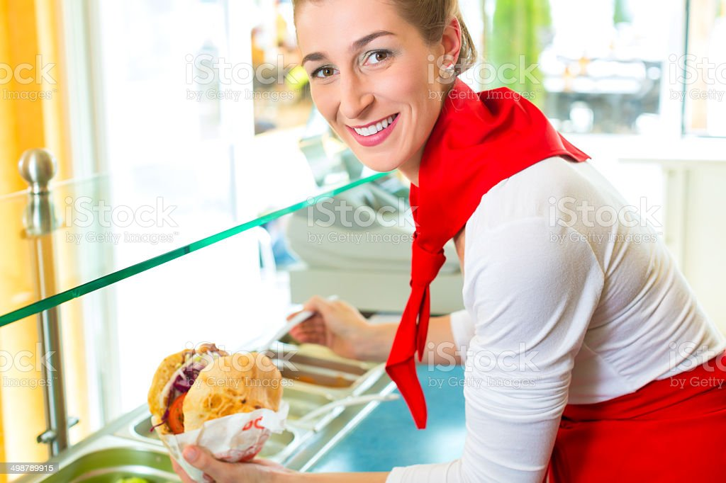 Kebab - hot Doner with fresh ingredients stock photo
