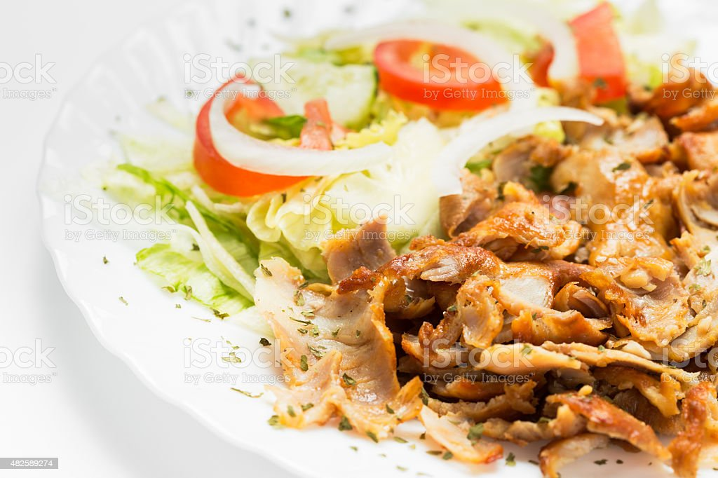 Kebab meat stock photo