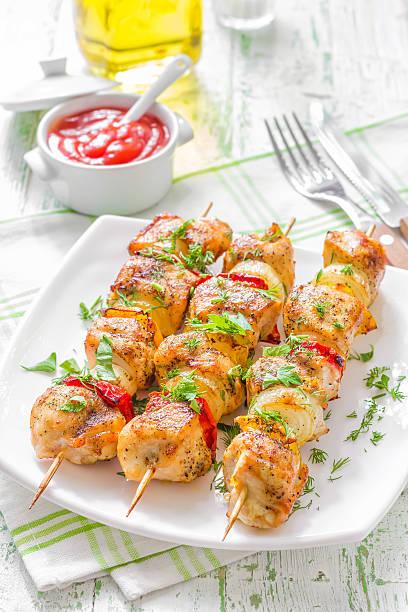 kebab - paprika hähnchen stock-fotos und bilder