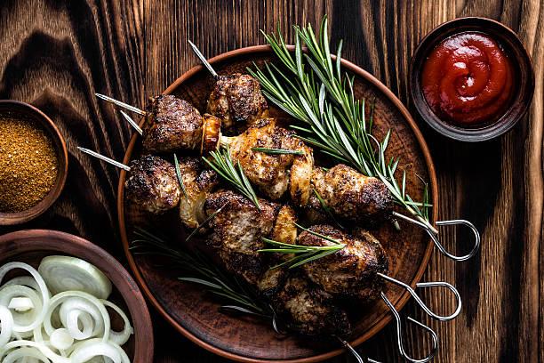 kebab - kebab marinade stock-fotos und bilder