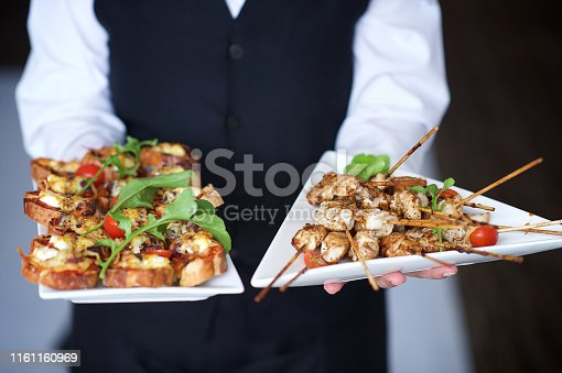 Canapés being served South Africa