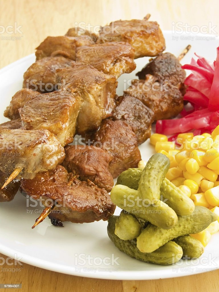 Kebabs royalty free stockfoto