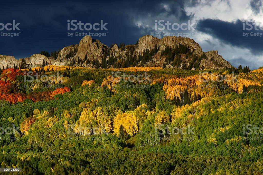 Kebler Pass In Colorado During Autumn stock photo