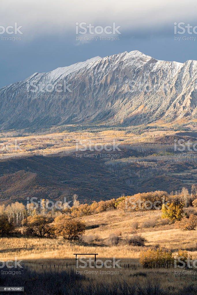 Kebler Pass Sunset Colorado stock photo
