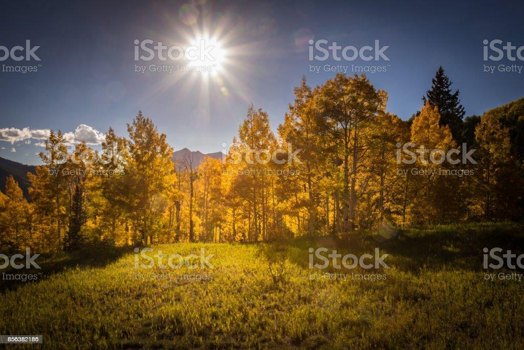 Kebler Sunset stock photo