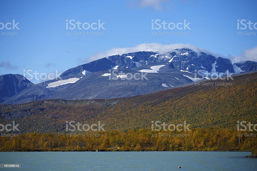 Kebnekaise, the highest mountain in Sweden stock photo