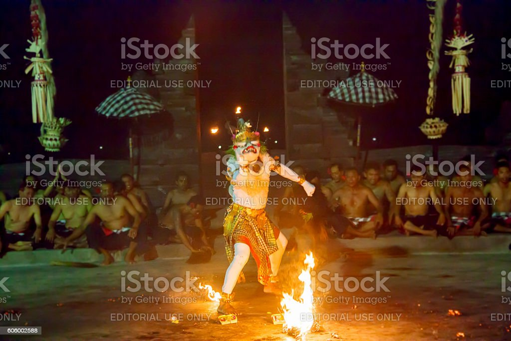 Kecak dance in Bali stock photo