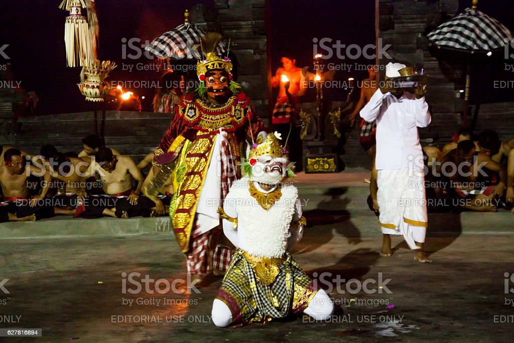 Kecak dance is a traditional ritual of Bali stock photo