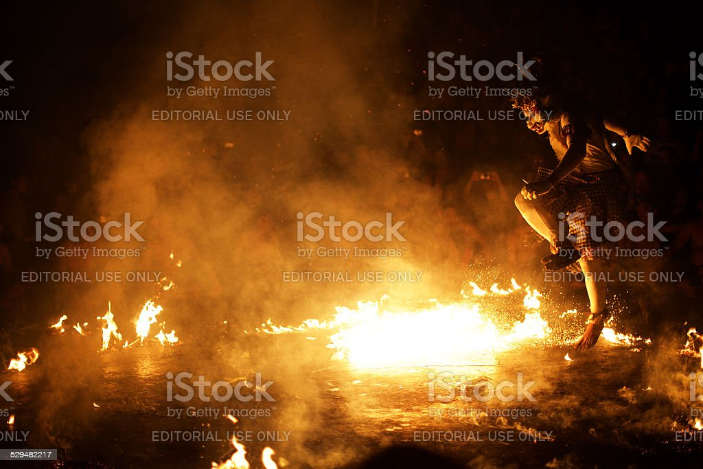 Kecak dance stock photo