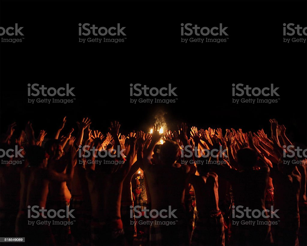Kecak stock photo