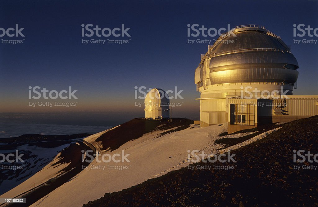 Keck Observatories, Hawai`i stock photo