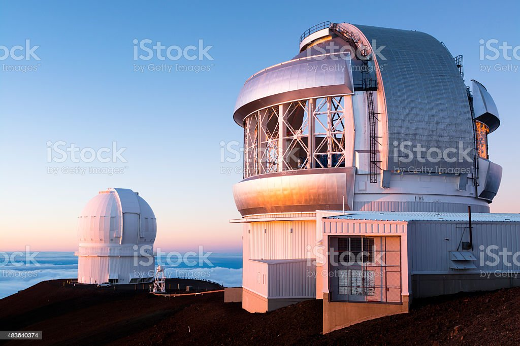 Keck Observatory stock photo