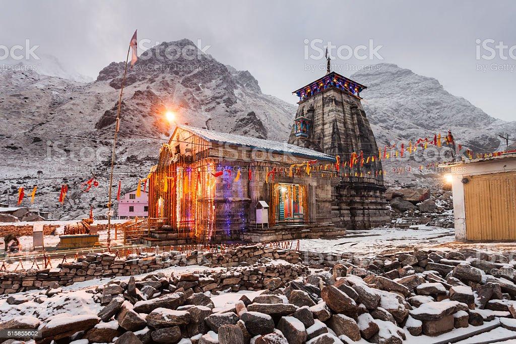 Kedarnath in India stock photo