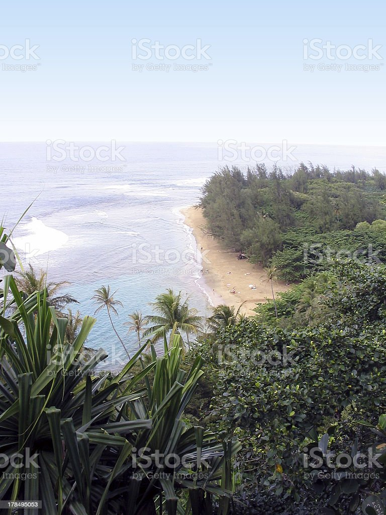 Kee'e Beach royalty-free stock photo