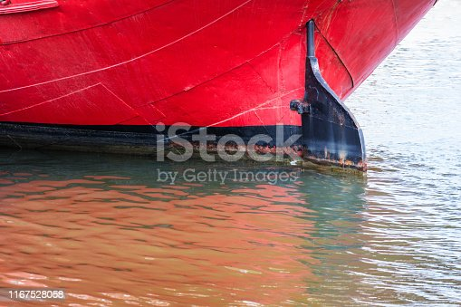 keel old ship with a rudder