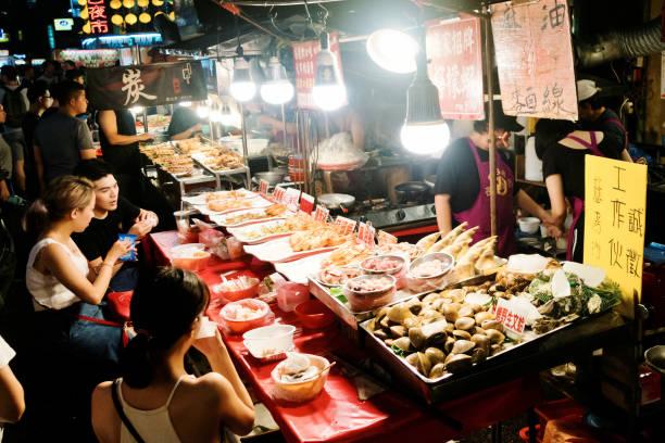 台湾の基隆夜市。 - 台湾 ストックフォトと画像