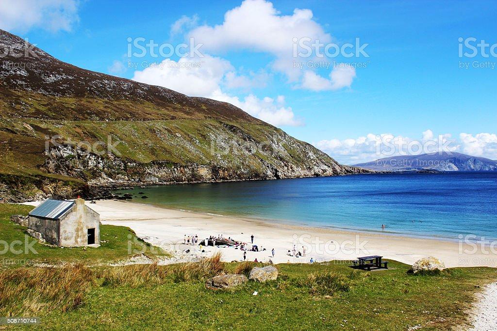 Keem beach, Achill Island, Ireland stock photo