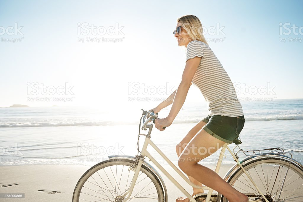 Keep calm and bike on stock photo