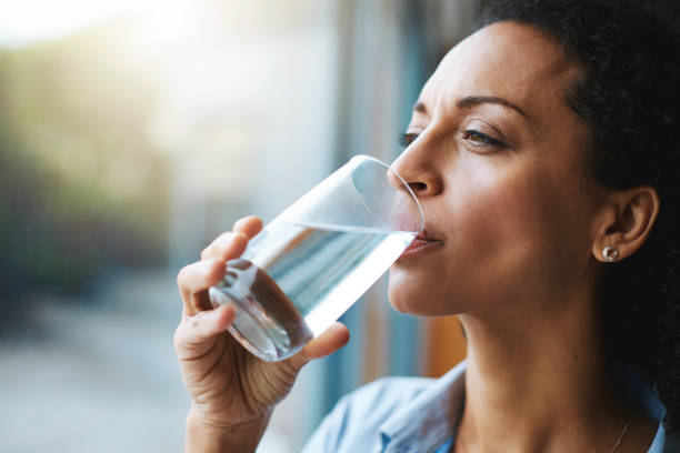 Keep calm and hydrate on stock photo