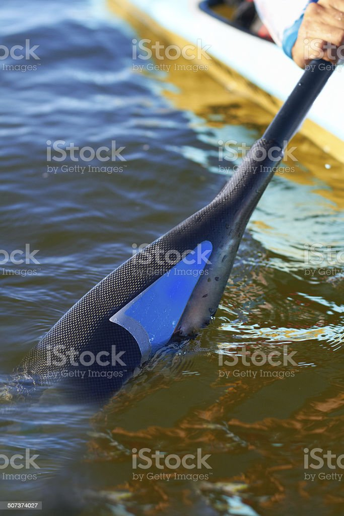 Keep calm and paddle on stock photo