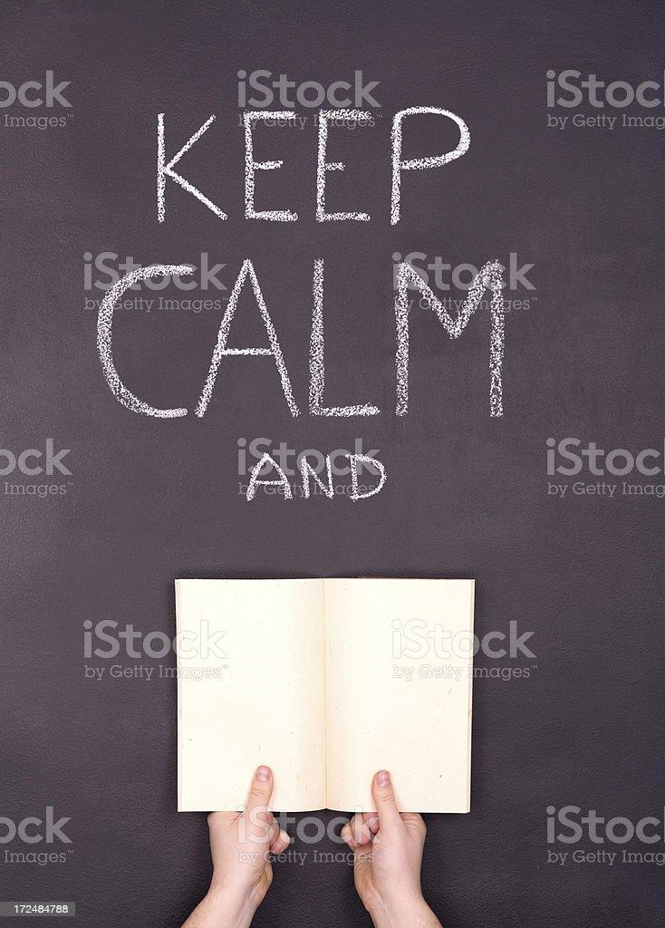 Keep Calm and ... stock photo