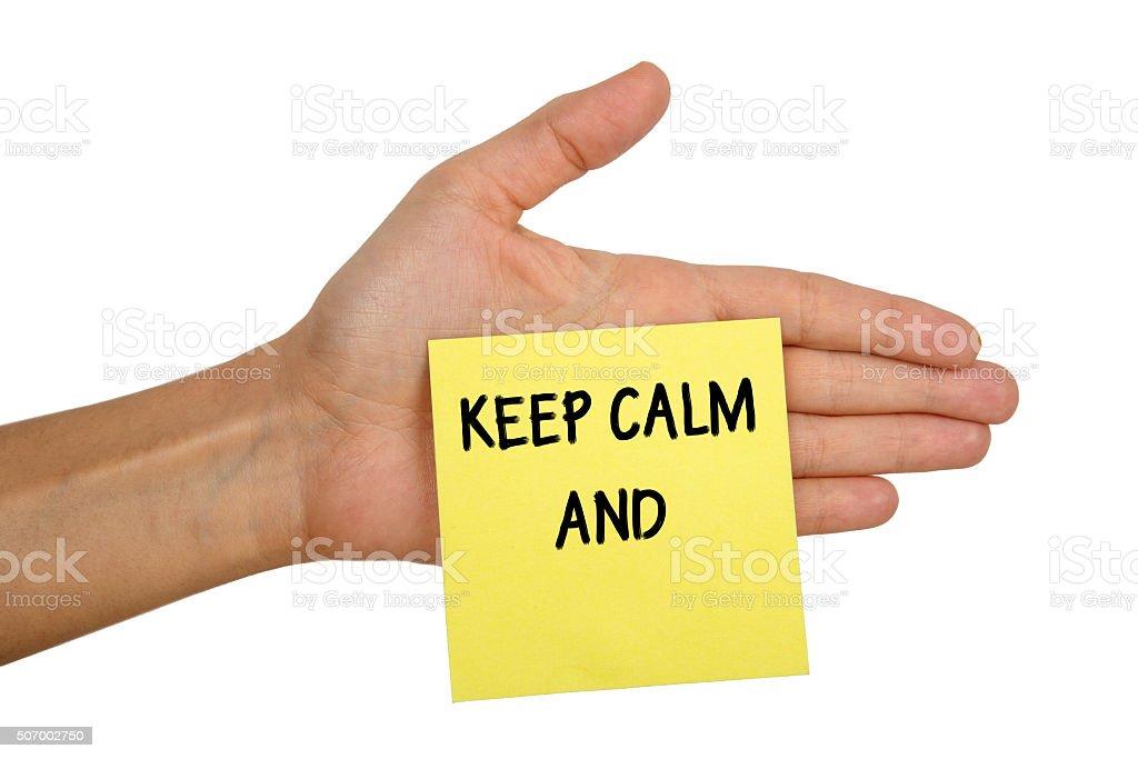 Keep Calm And stock photo