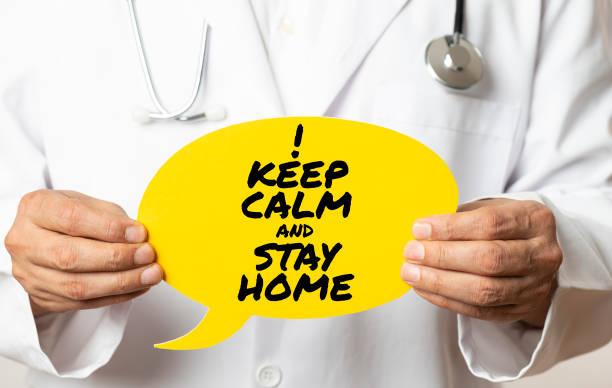 Ruhe bewahren und zu Hause bleiben – Foto