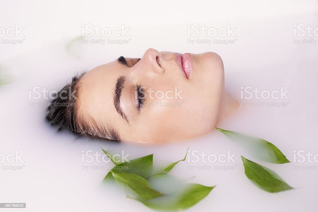 Keep calm and take care of your skin stock photo