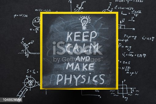 1148553584istockphoto keep calm make physics message science research 1045528586