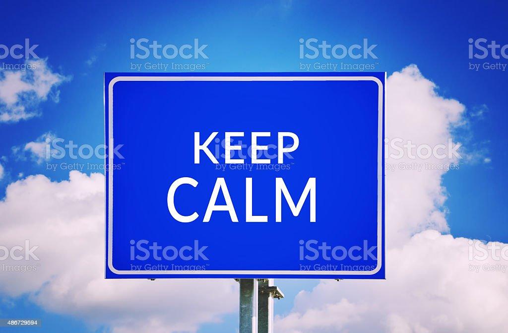 Keep calm stock photo