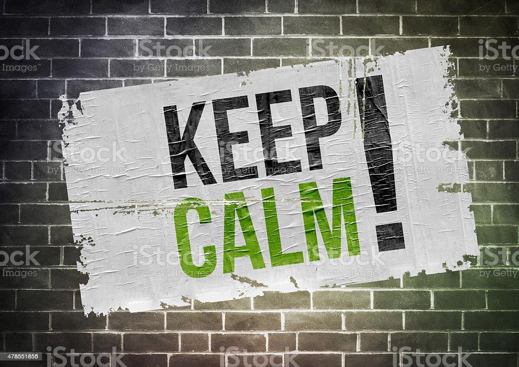 Keep calm - poster concept stock photo
