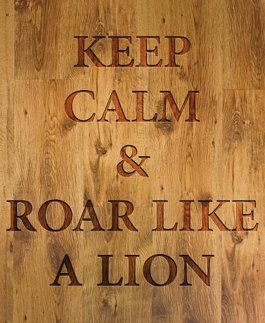 istock Keep Calm & Roar Like a Lion 484573388