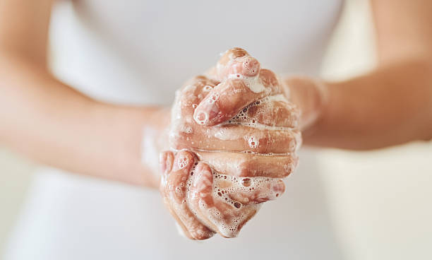 Keep clean and safe from germs stock photo