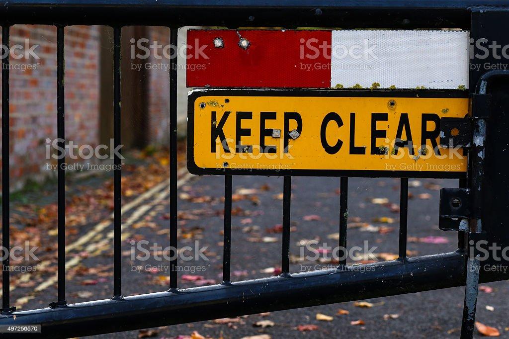Fique claro sinal de Rua Fechada Close-Up - foto de acervo
