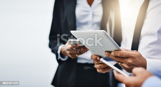 863497390 istock photo Keep connected and you'll keep succeeding 863497420
