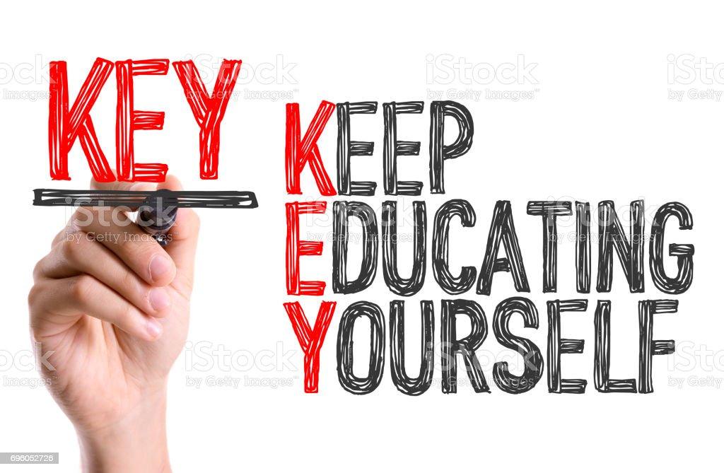 Mantenha a educação-se - foto de acervo