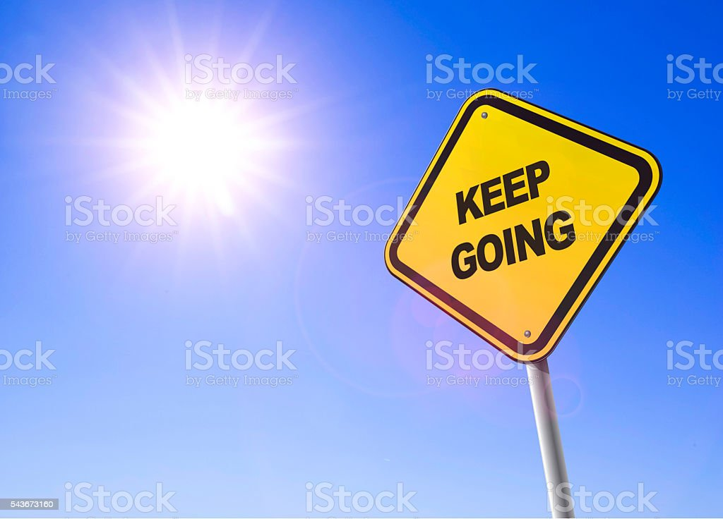 keep going stock photo