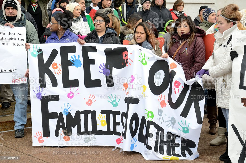 Keep Immigrant Families Together stock photo
