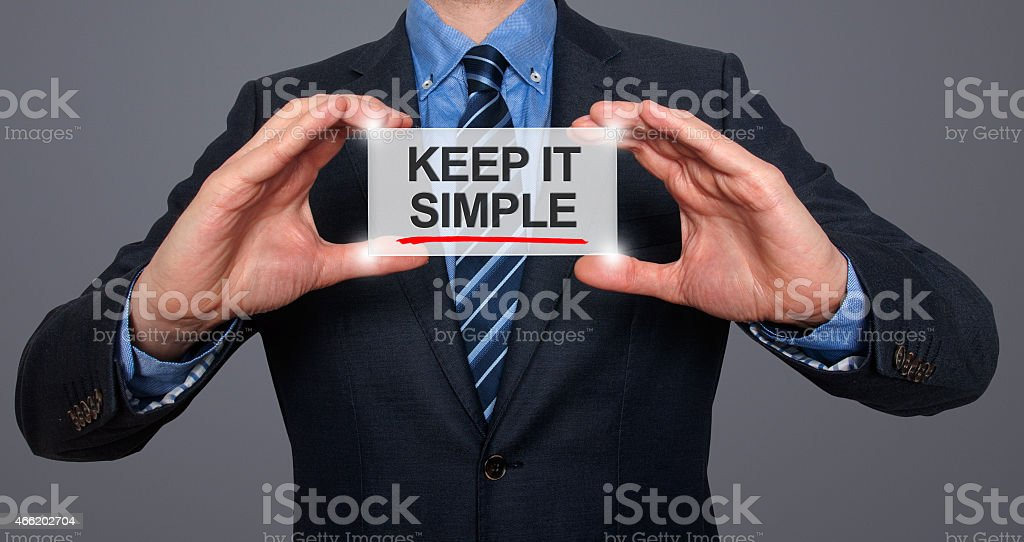 Keep It Simple On A Virtual Screen stock photo