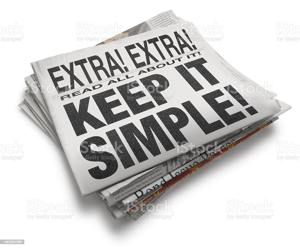 Keep It Simple royalty-free stock photo