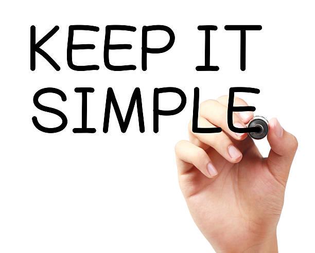 scegli la semplicità - semplicità foto e immagini stock