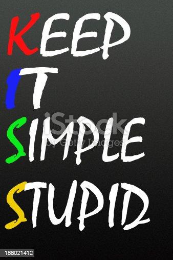 istock keep it simple stupid symbol 188021412