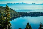 A dream like Mountain scene in Lake Tahoe , California , USA