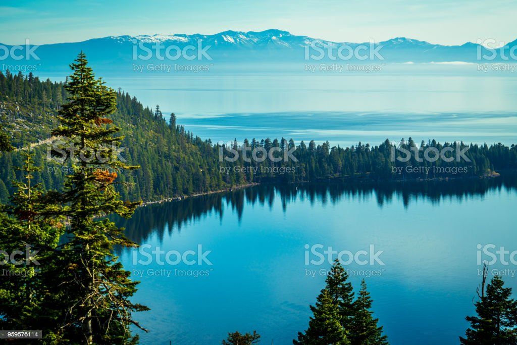 Keep Lake Tahoe Blue stock photo